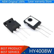 100% inversor de TO 3P, dispositivo Ultra chip, original, HY4008 HY4008W MOSFET 80V 200A, 4 Uds.