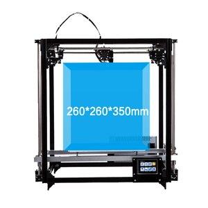 Image 4 - Flsun imprimante 3D mise à niveau 2019, double extrudeuse, impression grande taille 260x260x350mm, nivellement automatique, lit chauffant, TFT, Wifi