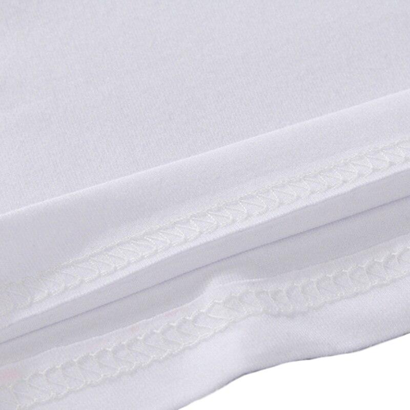 Günstige Herren Weiß Causal Base T-Shirt Kurzarm Weiß Kein Druck - Herrenbekleidung - Foto 5