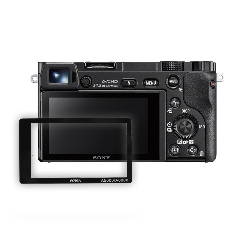 FOTGA Glass LCD Display Self-adhesive Screen Protector Guard For Sony Alpha A5000/A6000 Camera