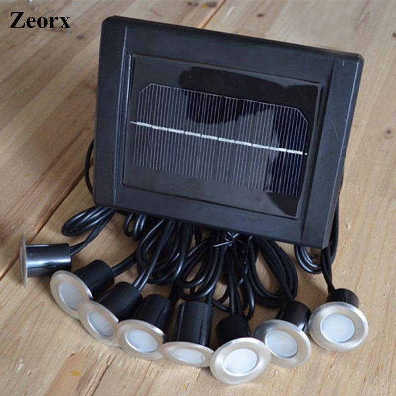 Solar Power LED Deck Lights Floor Lamp Stair Light IP67