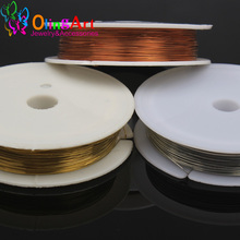 0.2MM 30M/Roll Silver Golden Copper plated Beading Wire FXA Jewelry Findings DIY jewelry copper wire Jewelry Accessories it8718f s fxa