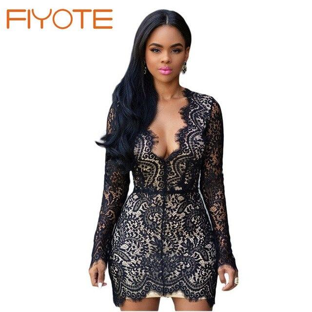 AX Paris Womens Mini Bodycon Lace Insert Black Nude Dress