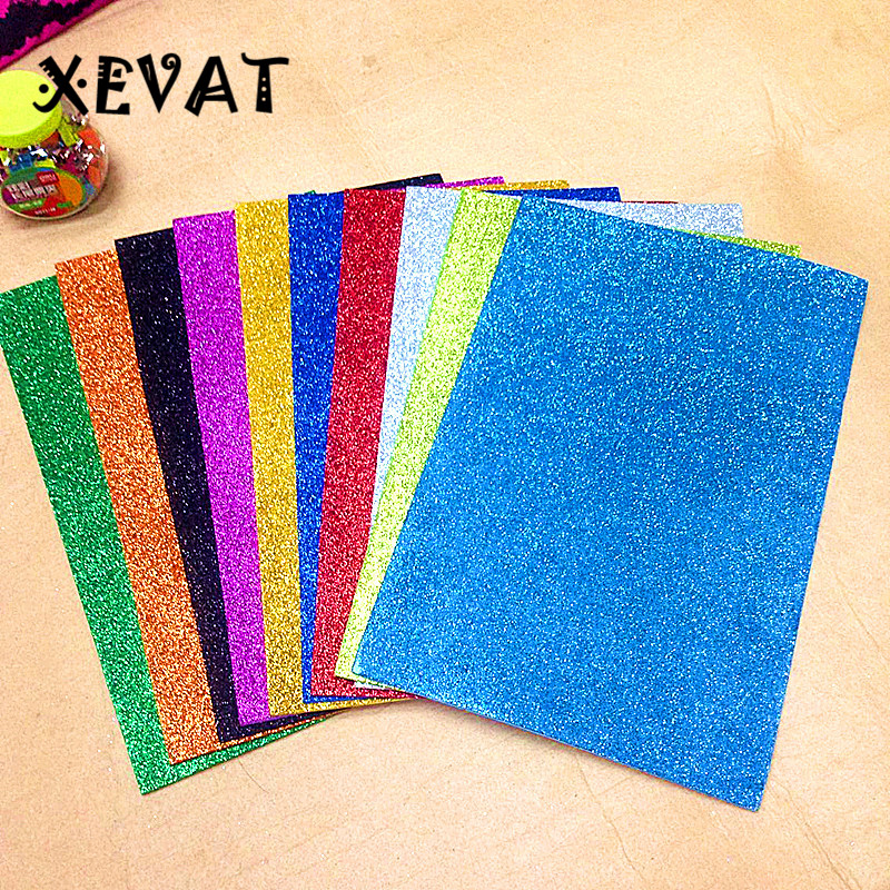 Fogli In Gomma EVA Foam Sheet 10 Different Color Kindergarten DIY Craft Paper Sheet Foam Paper Handcraft Material Decotive Paper