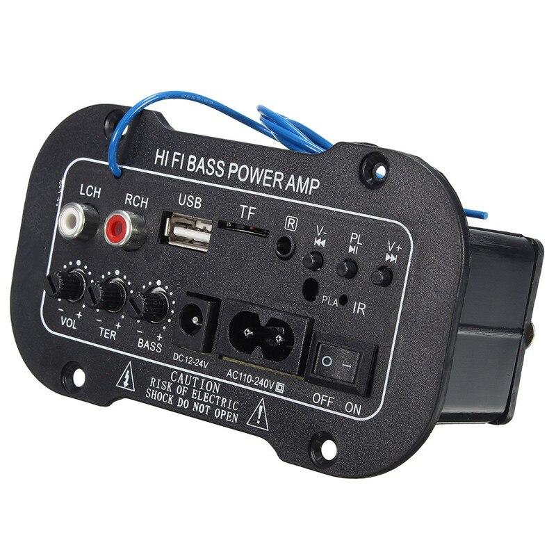 Nuevo 30 W tablero Amplificador de Audio Bluetooth Amplificador USB dac radio FM TF jugador Subwoofer de amplificadores para MotorcycleCarHome