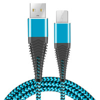 cable samsung galaxy Braided Micro-USB Cable Android Charger Cable/Samsung Fast Charging Compatible Cable with Galaxy S7/S6, Sony, Motorola,xiaomi, (4)