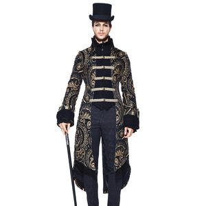2018 New Arrival Autumn Winter Gothic Jacket Men Palace Court Nobel Long  Jackets Devil Fashion Embroidery Triple Breasted Jacket 076e02506fde8