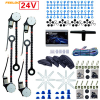 MOTOBOTS 1Set DC24V Universal Auto 8pcs/Set Moon Swithces 4 Doors Electronice Power Window kits and Harness Cable #AM3752