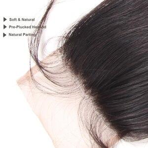 "Image 4 - Ali Queen Hair Water WAVEบราซิลVirgin Hair 10 ""ถึง 20"" 100% ผมมนุษย์ 4x4 ฟรีส่วนสวิสปิดลูกไม้ด้วยผมเด็ก"