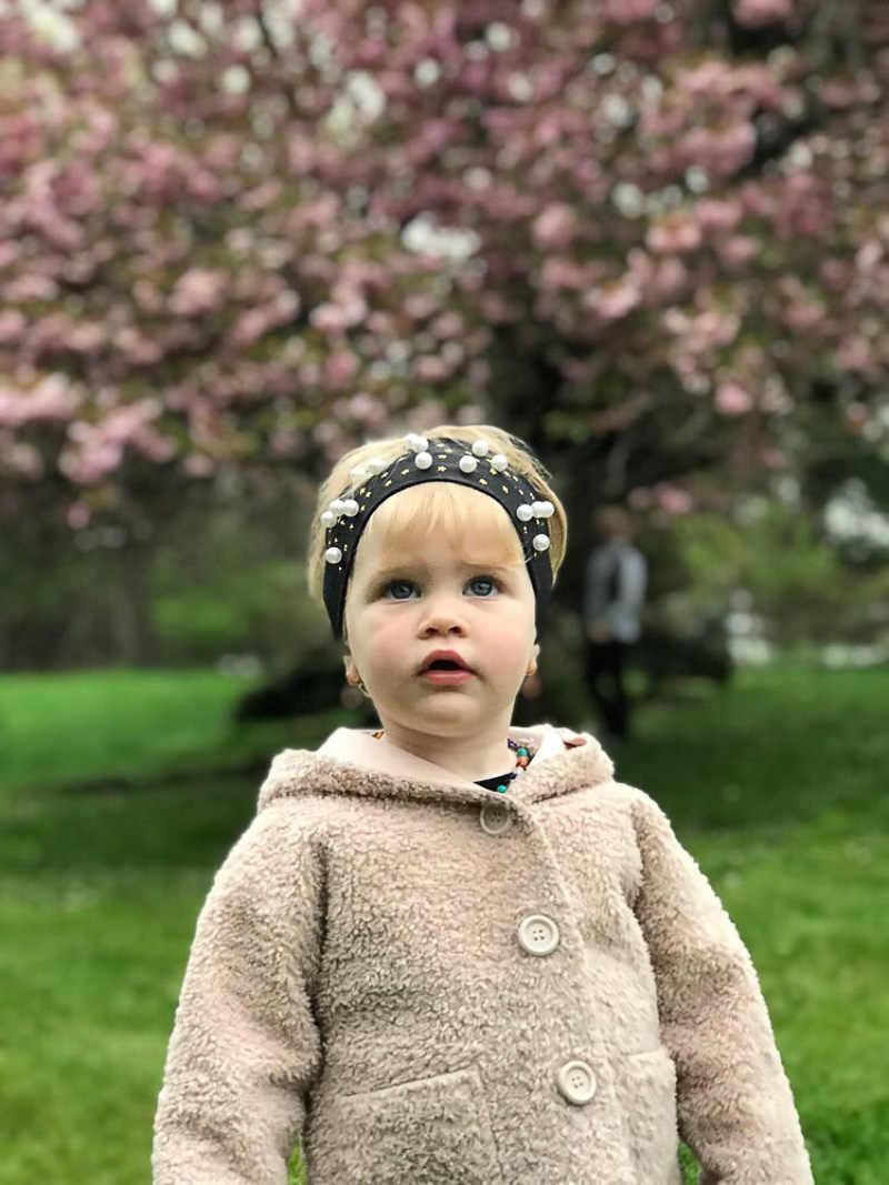 Sunlike you nouveauté 2019 coton bébé bandeau pour filles bébé cheveux accessoires perle bandeau cinq branches étoile nouveau-né Turban