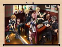 Kingdom hearts anime mur przewiń cosplay final fantasy home decor plakat hot