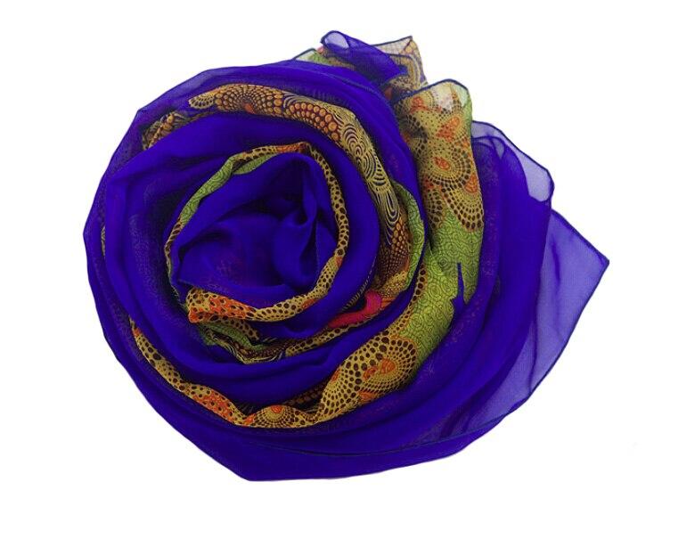 100% carré de Soie jacquard foulards Imprimé fleur Bleu femmes écharpes à la mode bandana foulard marque foulards femme Hijab