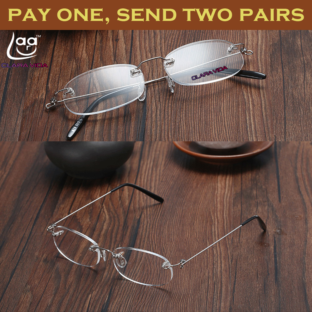 DWIE PARY! Okulary do czytania RIMLESS LIGHT ANTI-SLIP + 1 + 1,5 + 2 + 2,5 + 3 + 3,5 + 4 928