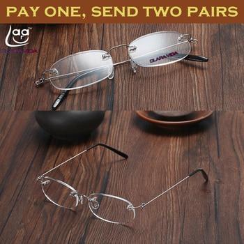 TWO PAIRS! RIMLESS LIGHT ANTI-SLIP unisex reading glasses+1+1.5+2+2.5+3+3.5+4  928