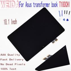 WEIDA 10.1 ''dla Asus transformer book T100CHI T1 CHI T100Chi T1Chi panel wyświetlacza dotykowego lcd ekran Digitizer zgromadzenia w Ekrany LCD i panele do tabletów od Komputer i biuro na