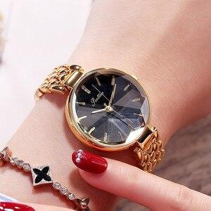 Image 3 - Super Lujo esfera de diamante mujeres relojes de señoras elegante reloj de cuarzo casual mujer Acero inoxidable relojes reloj mujeres regalos