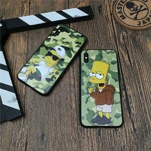 Cute Usa Cartoon Boy Camo Phone Cover Case For Iphone 11 PRO X Xs Max Xr 8 7 6 6s Plus 5 5s Se Soft Silicon Coque Matte Fundas(China)