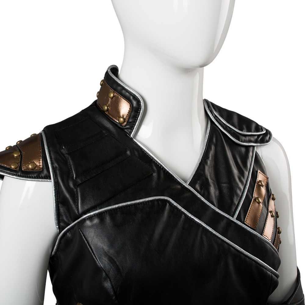Los Vengadores Thor 3 Ragnarok Valkyrie Cosplay traje botas vestido traje capa chaleco mujeres hombres carnaval Cosplay disfraz
