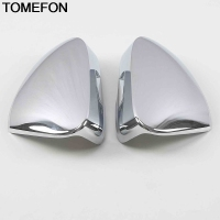 TOMEFON For Skoda Karoq 2017 2018 2019 Car Side Door Rear View Mirror Cap Frame Cover Trim Exterior Accessories ABS ChromeSliver