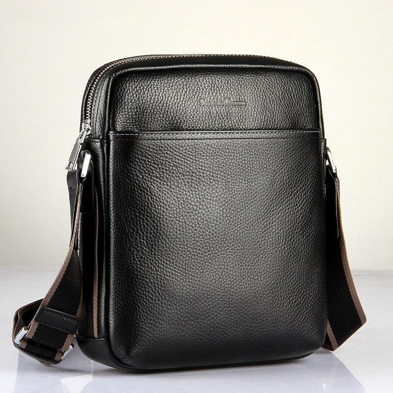 08cd39d005 Famous Brand new casual Genuine leather men messenger bag man fashion shoulder  bag brifcase Natural cowskin