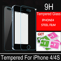 Film screen scratch proof tempered glass on for iPhone 4s protective film front glass protective glass for iPhone 4/4s glass