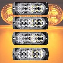 castaleca 4X Ultra Car Truck 12 led Strobe Warning Lights 19 flash patterns Apply to Signal light Daytime running Foglight