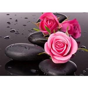 Image 3 - Daimond 그림 5D 전체 광장/라운드 불교 양초와 꽃 다이아몬드 페인팅 라인 석 크리스탈 크로스 스티치 모자이크 160QW