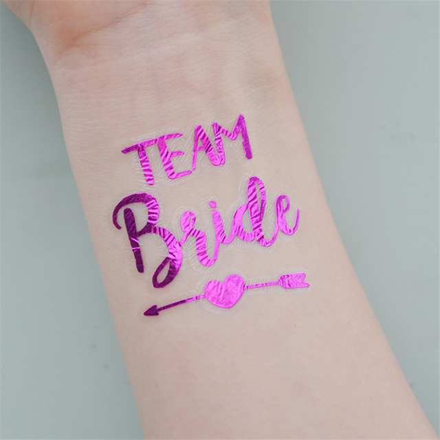 10pcs bachelorette hen party purple stickers team bride for How to shower with a new tattoo