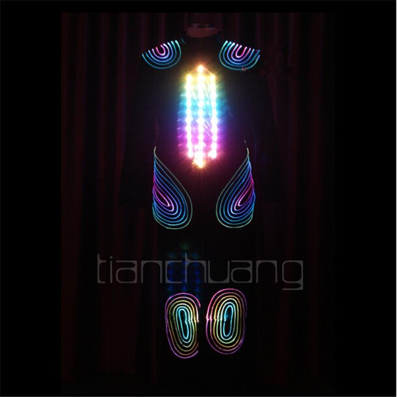 TC-79 Pilnkrāsu LED krāsains gaismas robots vīriešu kostīmi - Svētku piederumi