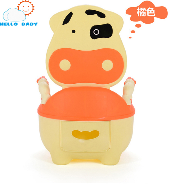 4 colors wonderful high quality baby toilet comfortable cows drawer potty small infants for young children