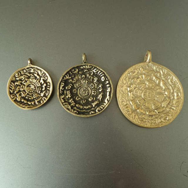 Tbp075 tibet jiugong bagua amulet waist tag old brass golden tbp075 tibet jiugong bagua amulet waist tag old brass golden pendants for man mozeypictures Gallery