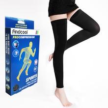Findcool בגובה הברך גרבי דחיסה רפואית דליות גרב דחיסת Brace גלישת עיצוב עבור נשים גברים