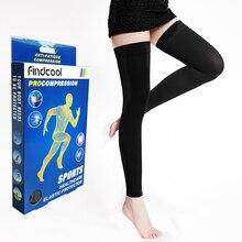 Медицинские компрессионные чулки Findcool до колена, чулки от варикозного расширения вен, компрессионная повязка для женщин и мужчин