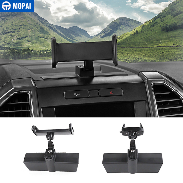 MOPAI Car GPS Mobile Phone Ipad Holder Bracket Cellphone Stand Stickers for Ford F150 2015 Up Interior Accessories Car Styling