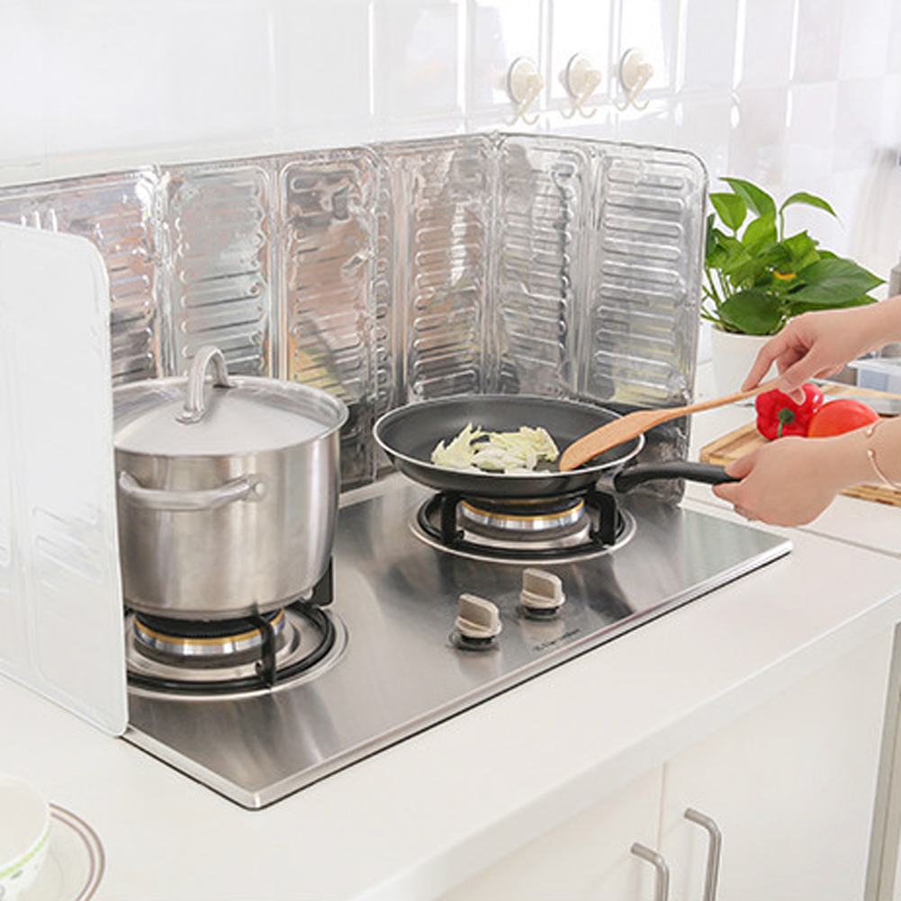 Aluminium Oil Splash Guard Kitchen Cooking Frying Pan Oil