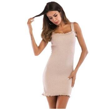 d5902cd63 vestido de punto vestidos verano moda 2019 ropa mujer talla grande vestido  vendaje corto vestidos con