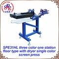 SPE31HL tres colores una estación con secador de máquina de impresión de pantalla 220 V/110 V