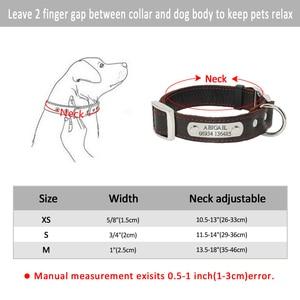 Image 5 - Collar personalizado de piel auténtica para perro, placa con nombre para cachorro, Collar ajustable libre, etiquetas de identificación de mascota grabadas para perros pequeños y medianos