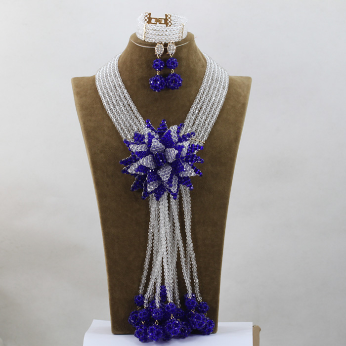 Fashion Wedding Statement Jewelry Set Big Crystal Flower Bridesmaid Necklace Set Free ShippingQW955 цены онлайн