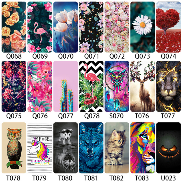 Bolomboy Painted Case For Sony Xperia M2 Case Silicone Soft Cases For Sony Xperia M2 M4 S50H D2303 Cover Wildflower Cute Animal
