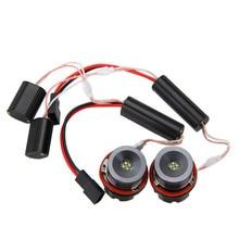 Car Light Bulbs 2pcs 80W Angel Eyes Error Free LED Halo Ring Light Bulbs For BMW E39 E53 E60 E63 Aluminum +LED Beads Light  #YL1 цены