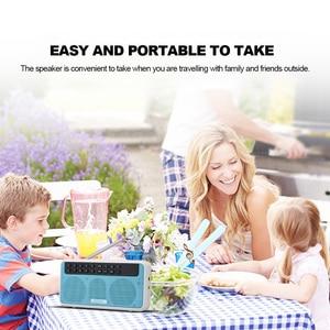 Image 4 - Rolton e500 fm rádio 6 w sem fio bluetooth alto falante portátil rádio digital fm estéreo de alta fidelidade tf music player com display led mic