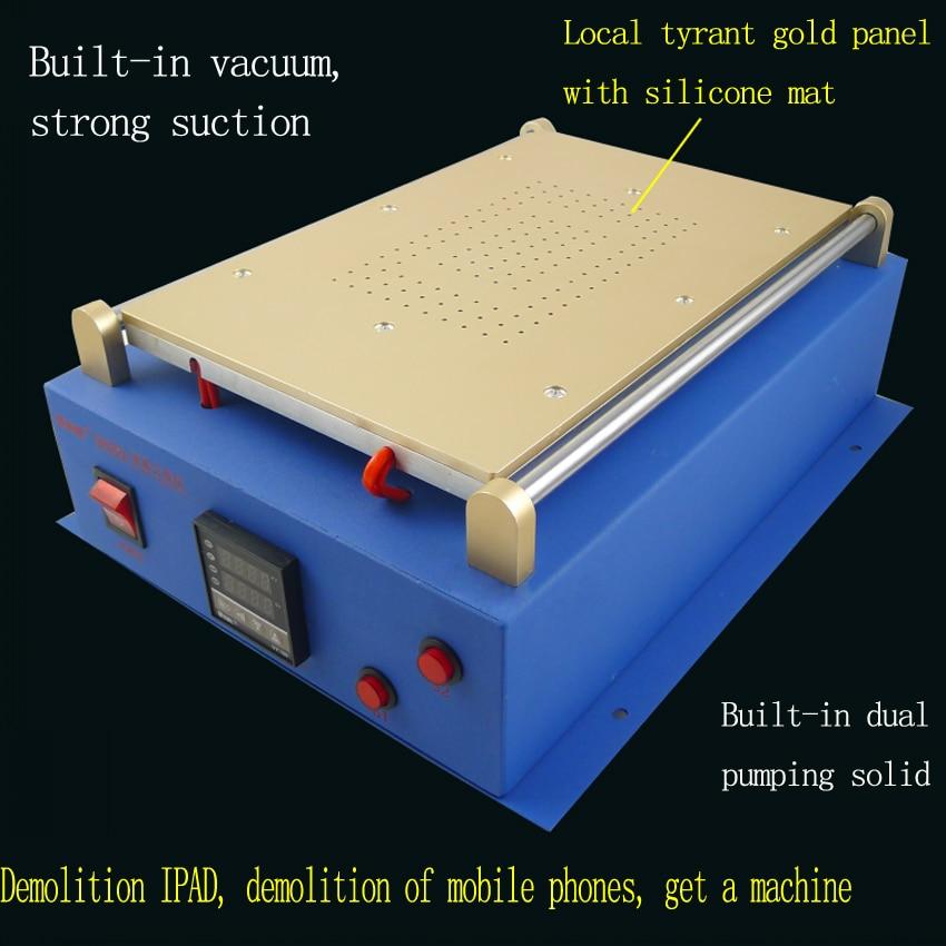 1 pz Built In Doppia Pompa A Vuoto 14 pollice per i Pad per il telefono Diviso Separatore di Riparazione Dello Schermo di Vetro A CRISTALLI LIQUIDI macchina per Tablet PC