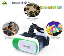 Google Cardboard 3D Movie Glasses VR BOX II 2.0 Version Virtual Reality 3D Glasses 5 Colors Edition black/pink/yellow/blue/green