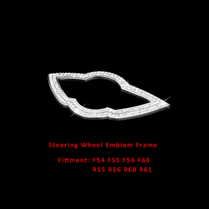 Image 5 - Car Styling Diamond Steering Wheel Wing Emblem Badge Decal Trim for MINI Cooper One Countryman R54 F55 F56 F60 R55 R56 R60 R61