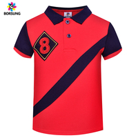1aef26577 2019 Summer Kids Polo100 Cotton Short Sleeve Letter Embroidery Boys Polo  Shirts Turn Down Collar Children