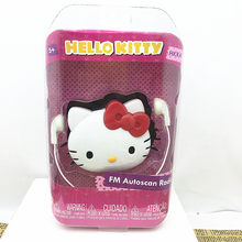 super cute kitty cat radio toy With headphones portable real FM radio Insert headphones Can listen Play house toy Christmas gift(China)