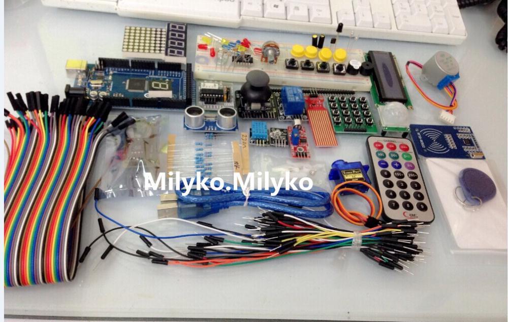 Free shipping mega 2560 r3 starter kit motor servo RFID Ultrasonic Ranging relay LCD for arduinoFree shipping mega 2560 r3 starter kit motor servo RFID Ultrasonic Ranging relay LCD for arduino