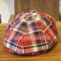 Осень boinas masculinas шотландка берет шляпы для мужчины козырек шапки кепка газетчика лежа шляпы PBFE-007