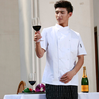 New Restaurant Hotel KitchenChef Jackets Coats Uniforms Janpanese Cotton Poly New Fucnctional Sideway Collar White Black Color